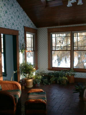 sunroom wall and ceiling