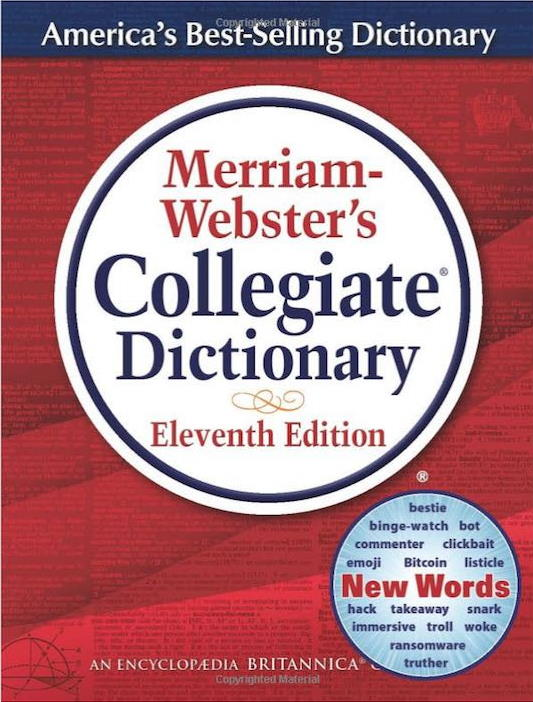 cover of dictionary
