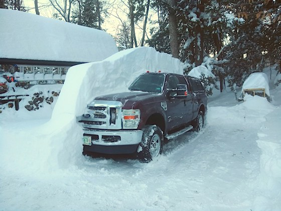 ford f250 buried in snow