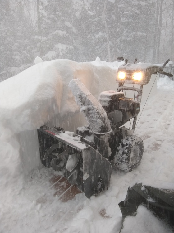 snowblower on deck