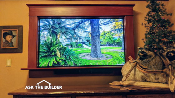 flat screen tv frame ideas