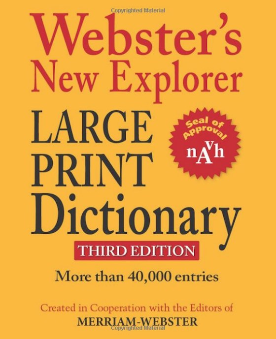 Webster's dictionary cover